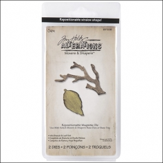 Sizzix Tim Holtz Alterations Movers and Shapers Magnetic Dies Mini Branch and Leaf Set