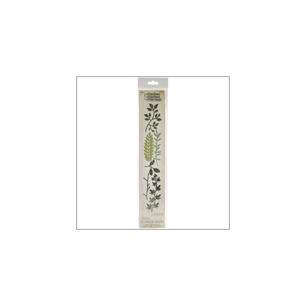 Sizzix Tim Holtz Alterations Die Sizzlits Decorative Strip Spring Greenery