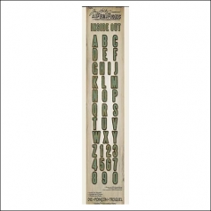 Sizzix Tim Holtz Alterations Die Sizzlits Decorative Strip Inside Out Alphabet