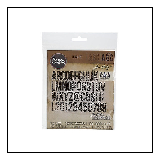 Sizzix Tim Holtz Alterations Die Thinlits Alphanumeric Marquee