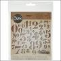Sizzix Tim Holtz Alterations Die Thinlits Stencil Numbers