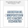 Sizzix Tim Holtz Alterations Die Thinlits Alphanumeric