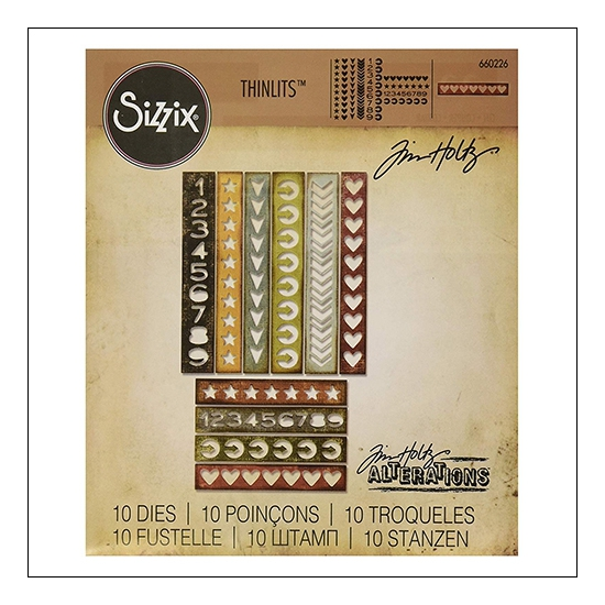 Sizzix Tim Holtz Alterations Die Thinlits Shape Strips