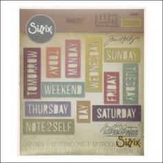 Sizzix Tim Holtz Alterations Die Thinlits Daily Words Block