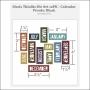 Sizzix Tim Holtz Alterations Die Thinlits Calendar Words Block