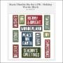 Sizzix Tim Holtz Alterations Die Thinlits Holiday Words Block