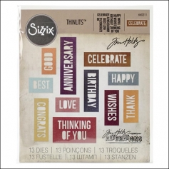 Sizzix Tim Holtz Alterations Die Thinlits Celebration Words Block