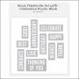 Sizzix Tim Holtz Alterations Die Thinlits Celebration Words Block