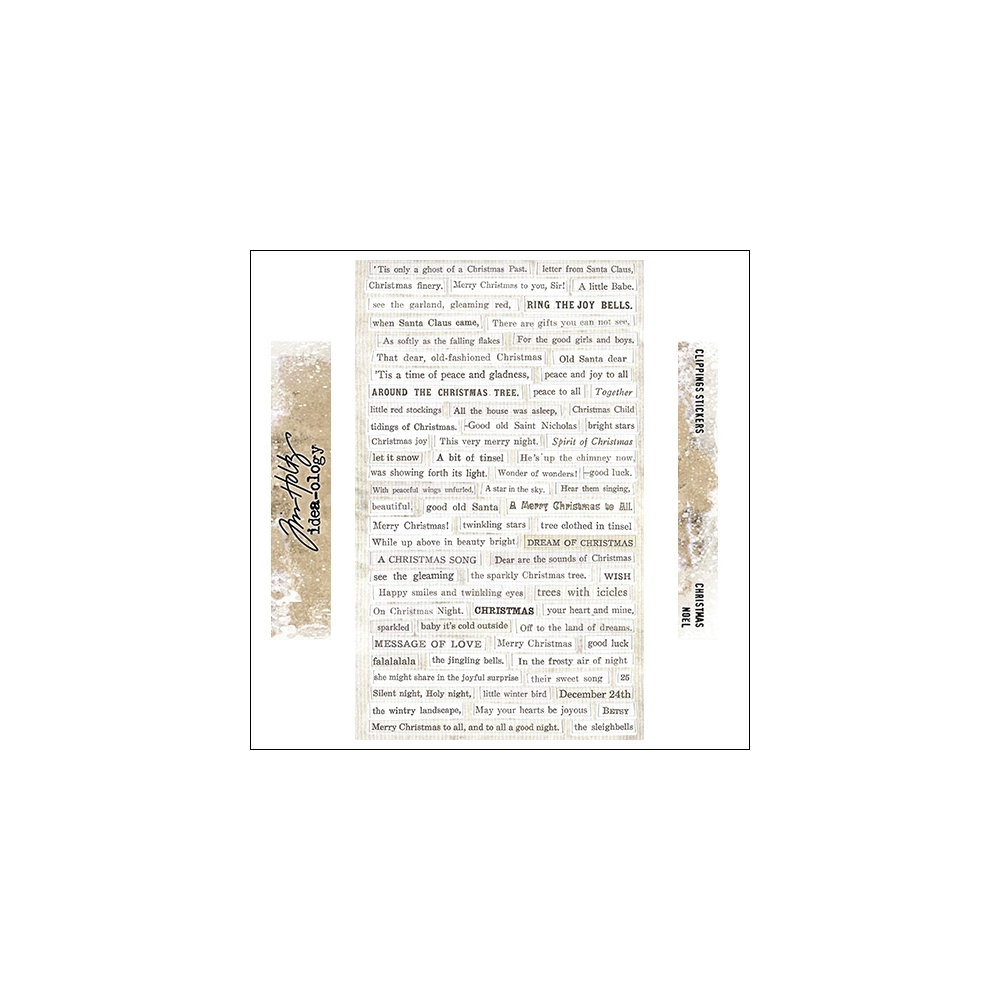 Idea-ology Advantus Clippings Sticker Sheet Christmas by Tim Holtz