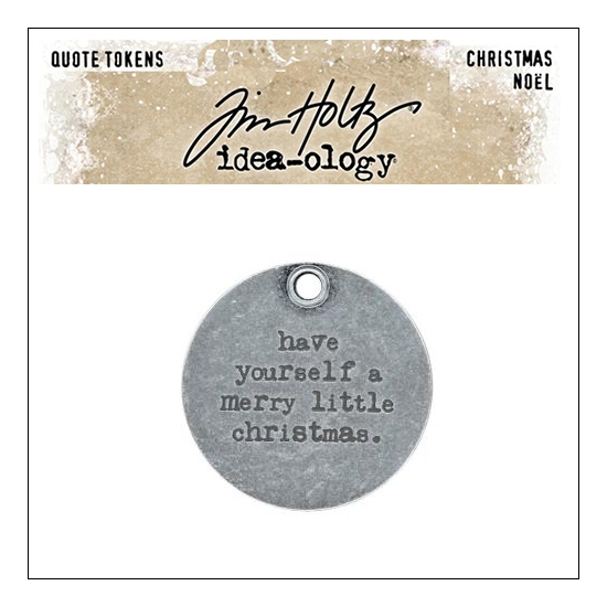 Idea-ology Tim Holtz Metal Quote Token Christmas