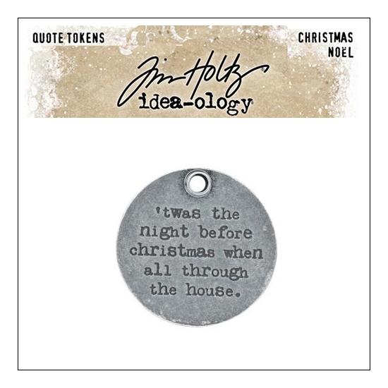 Idea-ology Tim Holtz Metal Quote Token Christmas