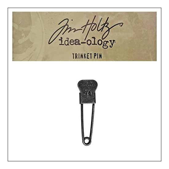 Idea-ology Tim Holtz Metal Trinket Pin Secrets 74