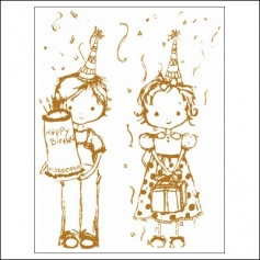 Prima Marketing Mini Clear Stamp Celebrate