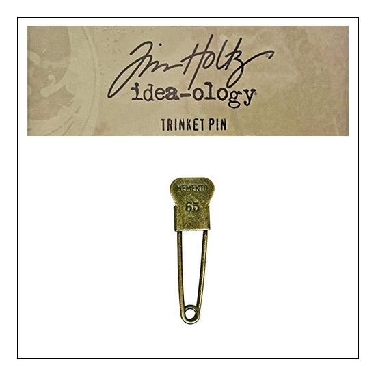 Idea-ology Tim Holtz Metal Trinket Pin Memento 65
