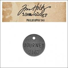 Idea-ology Tim Holtz Metal Philosophy Tag Journey