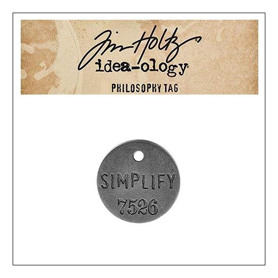 Idea-ology Tim Holtz Metal Philosophy Tag Simplify