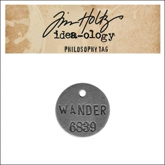 Idea-ology Tim Holtz Metal Philosophy Tag Wander