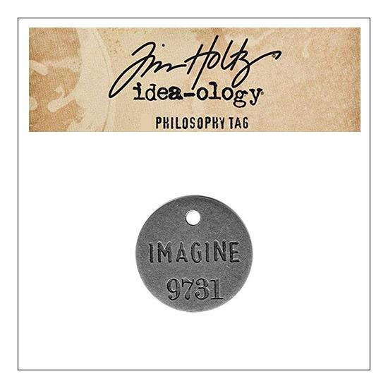 Idea-ology Tim Holtz Metal Philosophy Tag Imagine