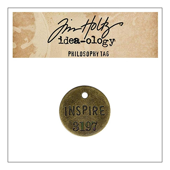 Idea-ology Tim Holtz Metal Philosophy Tag Inspire