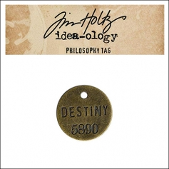 Idea-ology Tim Holtz Metal Philosophy Tag Destiny