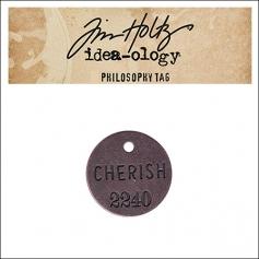 Idea-ology Tim Holtz Metal Philosophy Tag Cherish