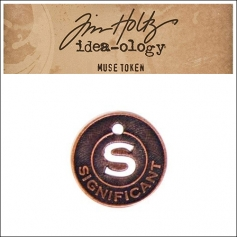 Idea-ology Tim Holtz Metal Muse Token Significant