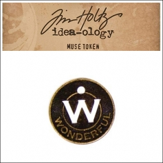 Idea-ology Tim Holtz Metal Muse Token Wonderful