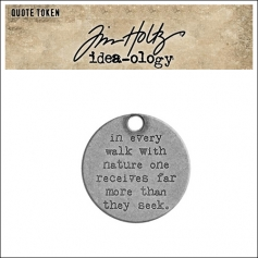 Idea-ology Tim Holtz Metal Quote Token