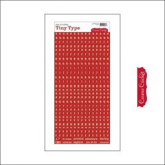 Cosmo Cricket Cardstock Alphabet Stickers Tiny Type Red