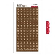 Cosmo Cricket Cardstock Alphabet Stickers Tiny Type Brown