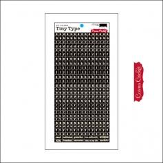 Cosmo Cricket Cardstock Alphabet Stickers Tiny Type Black