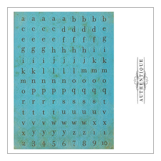 Authentique Cardstock Stickers Sheet Petite Type Circle
