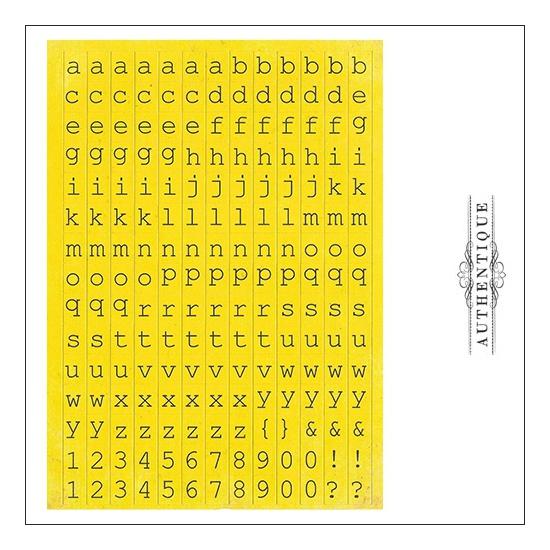 Authentique Cardstock Stickers Sheet Petite Type Square