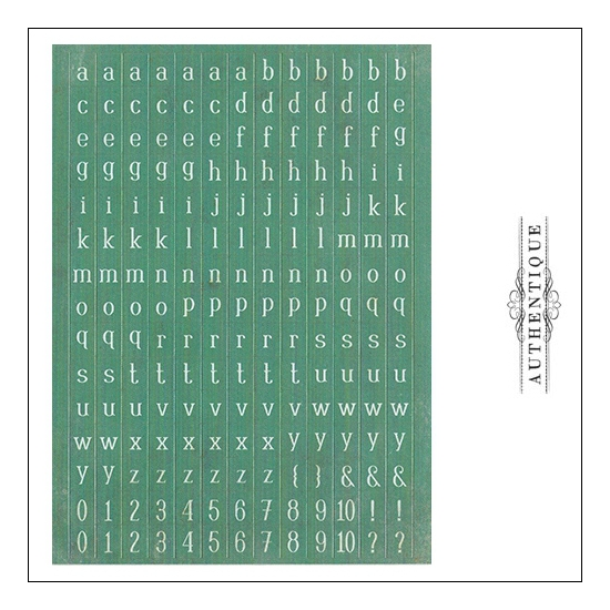 Authentique Cardstock Stickers Sheet Petite Type Square