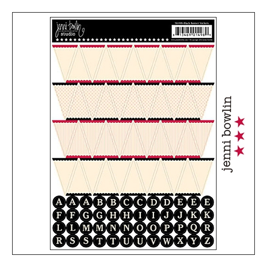 Jenni Bowlin Cardstock Stickers Sheet Black Banner