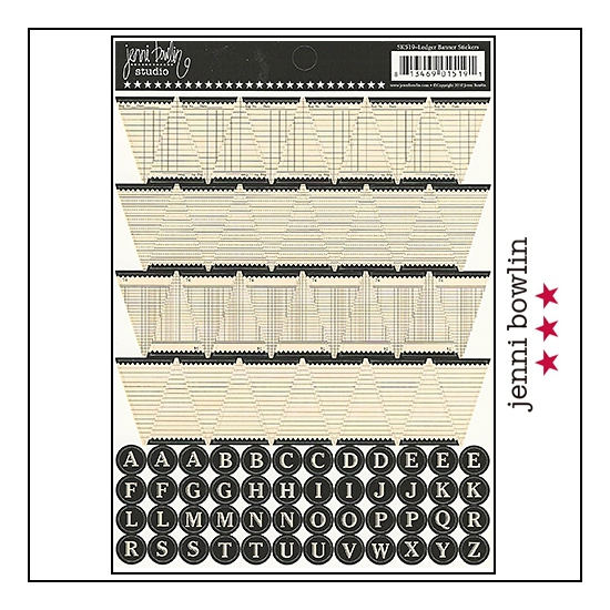 Jenni Bowlin Cardstock Stickers Sheet Ledger Banner