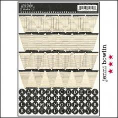 Jenni Bowlin Cardstock Stickers Sheet Ledger Banner