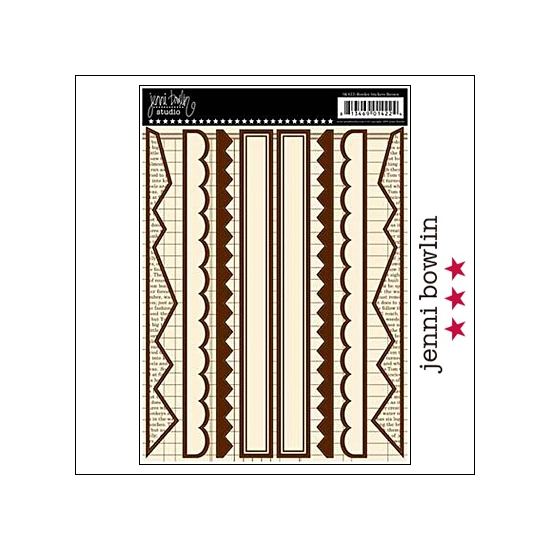 Jenni Bowlin Cardstock Stickers Border Brown