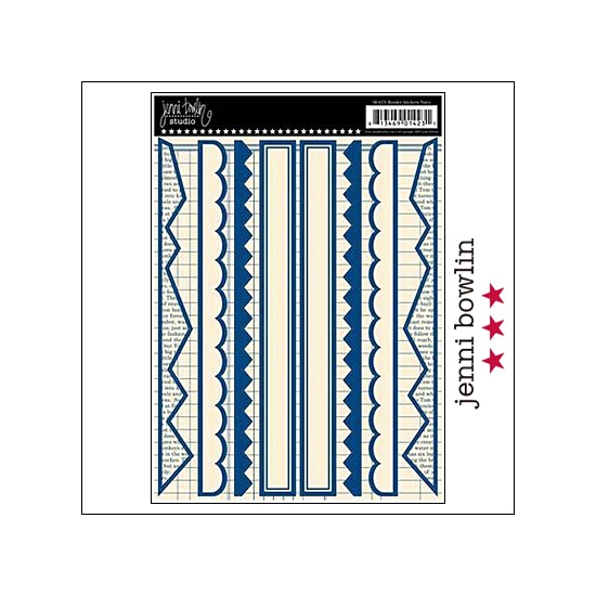 Jenni Bowlin Cardstock Stickers Border Navy