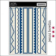 Jenni Bowlin Cardstock Stickers Border Navy