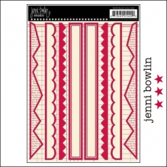 Jenni Bowlin Cardstock Stickers Border Red
