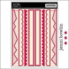 Jenni Bowlin Cardstock Stickers Border Red