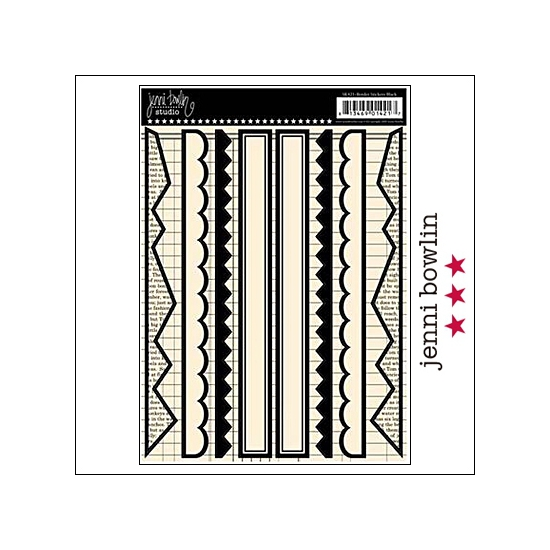Jenni Bowlin Cardstock Stickers Border Black