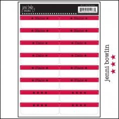 Jenni Bowlin Cardstock Stickers Red Tabs