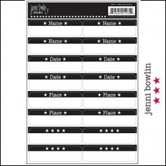 Jenni Bowlin Cardstock Stickers Black Tabs