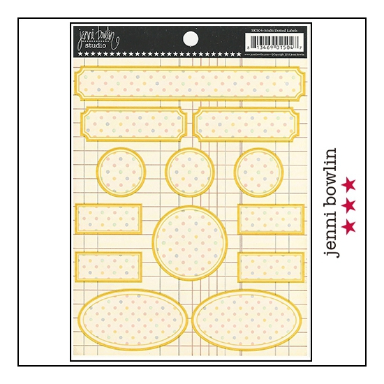 Jenni Bowlin Cardstock Stickers Dotted Labels Multi