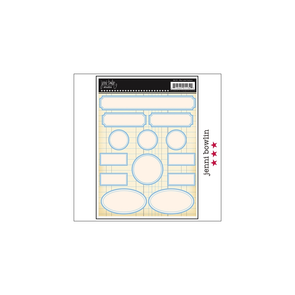 Jenni Bowlin Cardstock Stickers Labels Blue