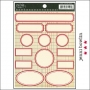 Jenni Bowlin Cardstock Stickers Labels Red
