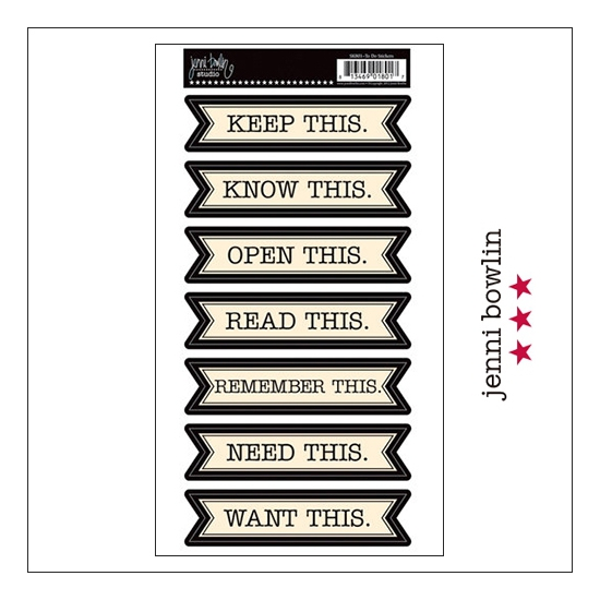 Jenni Bowlin Cardstock Stickers To Do