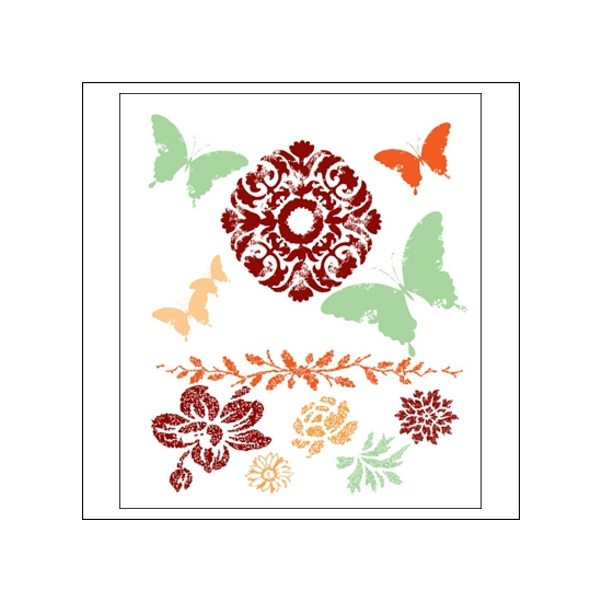 Prima Marketing Mini Clear Stamps Fairy Flora